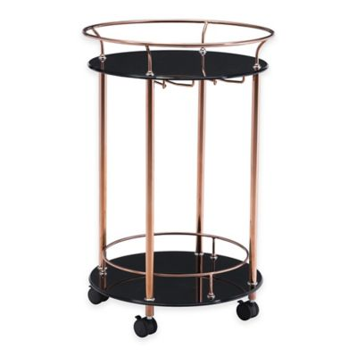 Zuo® Plato 2-Tier Serving Cart in Rose Gold
