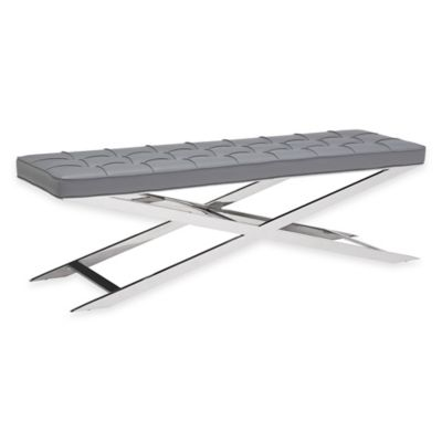 Zuo® Pontis Bench in Grey