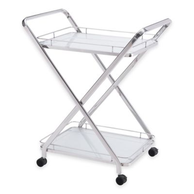 Zuo® Vesuvius Serving Cart in Chrome