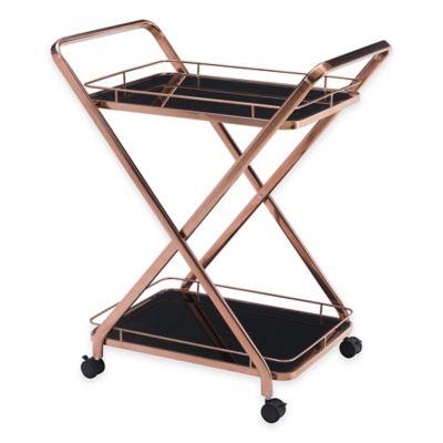 Zuo® Vesuvius Serving Cart in Rose Gold