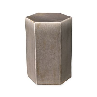 Jamie Young Small Ceramic Porto Side Table in Grey