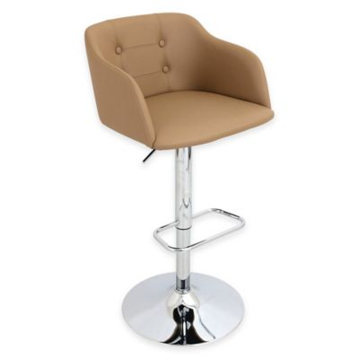 LumiSource Campania Barstool in Tan