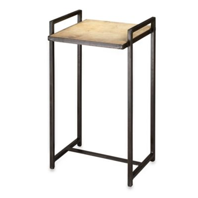 Jamie Young Large Steel Vellum Side Table