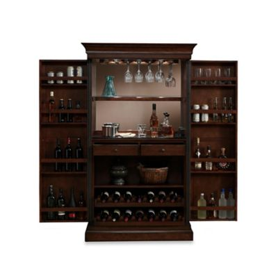 American Heritage Angelina Wine Cabinet in Brown