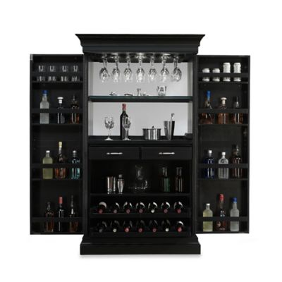 American Heritage Angelina Wine Cabinet in Black