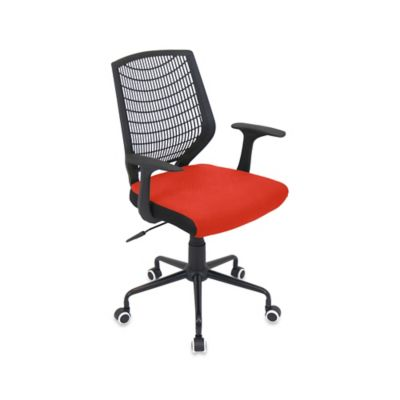 LumiSource Network Office Chair in Black/Red