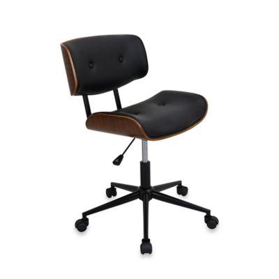 LumiSource Lombardi Office Chair in Walnut/Black