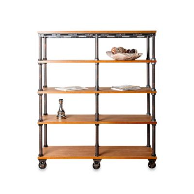 Abbyson Living® Kingsley Industrial Entertainment Bookcase