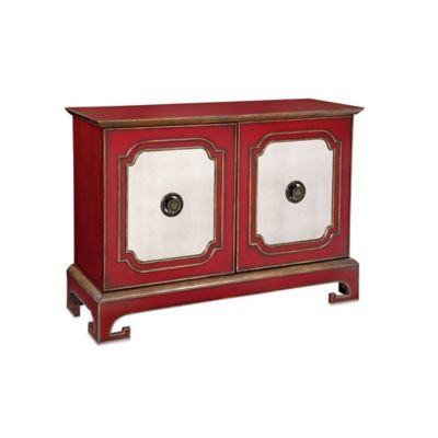 Bassett Mirror Company Oneida Stewards Cabinet in Red