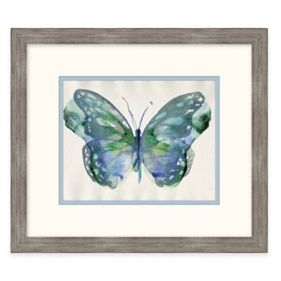 Framed Giclée Watercolor Butterfly 1 Wall Art