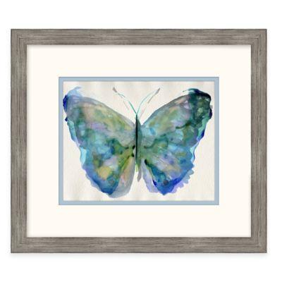 Framed Giclée Watercolor Butterfly 2 Wall Art