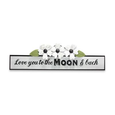 """Jazen """"Love You to the Moon and Back"""" Wall Art Plaque"""