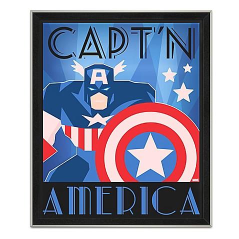 Marvel Framed Captain America Graphic Wall Art Www