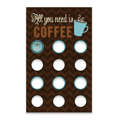 Coffee Pod Holder Functional Wall Art