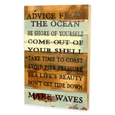 Advice from the Ocean Wooden Wall Art