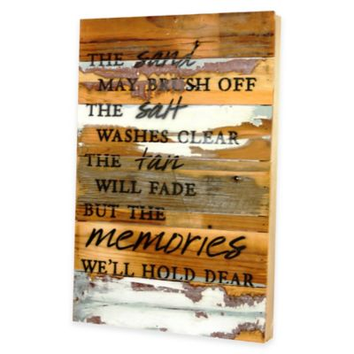 """""""The Sand May Brush Off"""" Wooden Wall Art"""