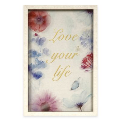 """Love your life"" Shadow Box Wall Art"