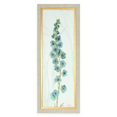 Framed Blue Flower Panel Wall Art