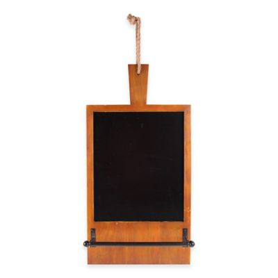 15-Inch x 25-Inch Hanging Cutting Board with Towel Holder in Brown