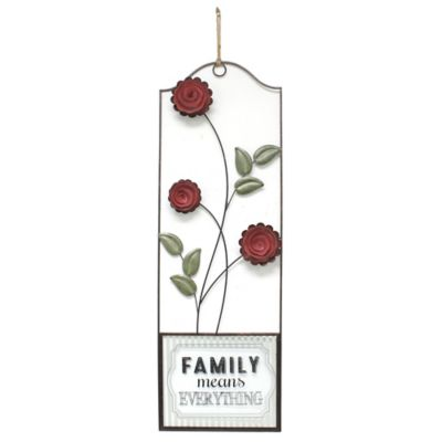 """FAMILY means EVERYTHING"" with Roses Wall Art"