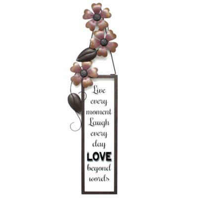 Danzig Live Laugh Love Metal Wall Plaque