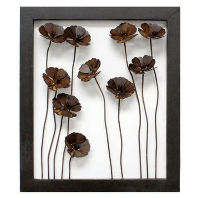 Aiken Metal Roses Framed Wall Art