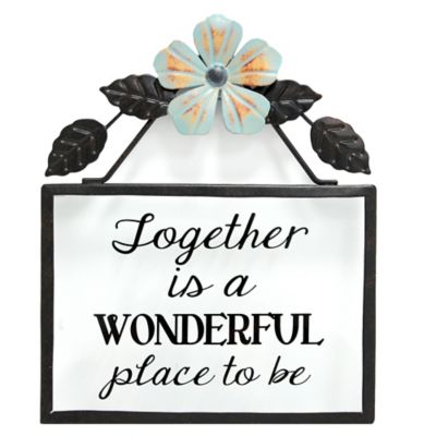 "Goyete ""Together is a WONDERFUL place to be"" Metal Wall Plaque"