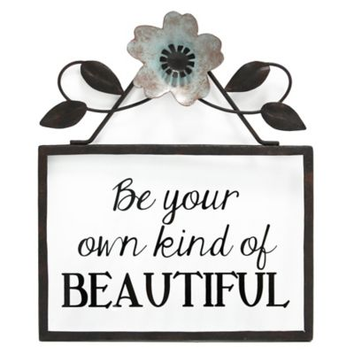 "Goyete ""Be your own kind of BEAUTIFUL"" Metal Wall Plaque"