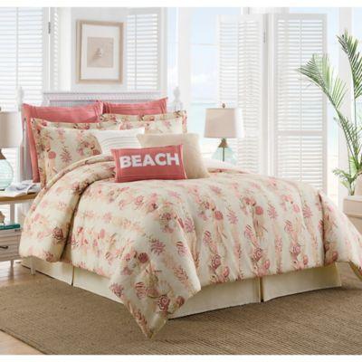 Coastal Life Luxe Sanibel Reversible Twin Comforter Set in Beige