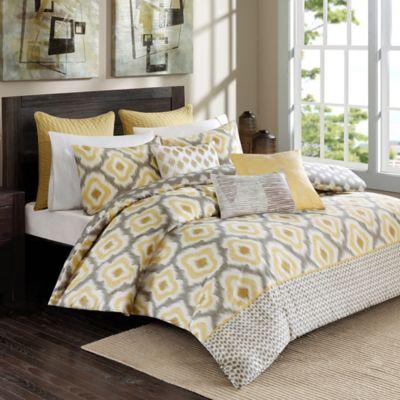 INK+IVY Ankara King Comforter Set in Yellow