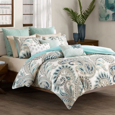 INK+IVY Mira Full/Queen Comforter Set in Blue