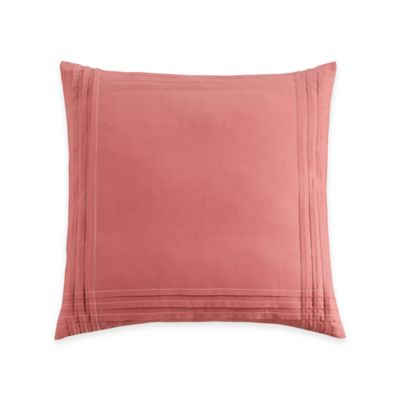 Coastal Life Luxe Sanibel European Pillow Sham in Coral