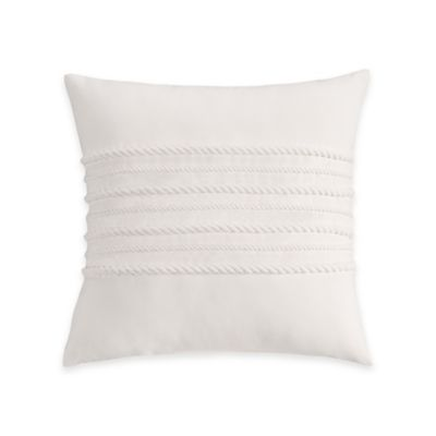 Coastal Life Luxe Sanibel Corded Decorative Throw Pillow in White