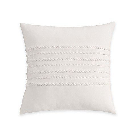 Coastal Life Luxe Sanibel Corded Decorative Throw Pillow in White - Bed Bath & Beyond