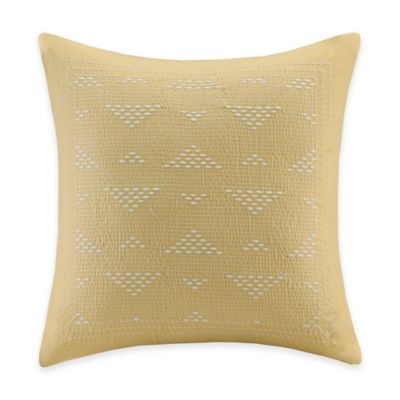 INK+IVY Ankara Embroidered Throw Pillow in Yellow