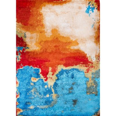 Four Season Striking Shag Area Rug in Multicolor
