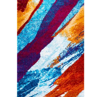 Four Season Bold Shag Area Rug in Multicolor