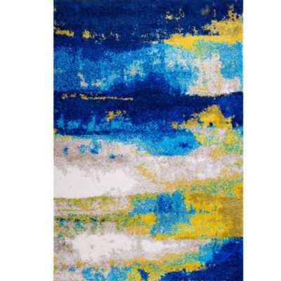 Four Season Shag Area Rug in Blue