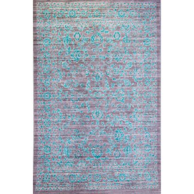 Melville 6-Foot 6-Inch x 9-Foot 2-Inch Area Rug in Turquoise