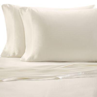 Valeron Estate Silk King Sheet Set in Pearl