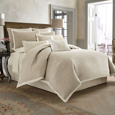 Wamsutta® Collection Luxury Italian-Made Salerno Full/Queen Duvet Cover in Linen/Ivory