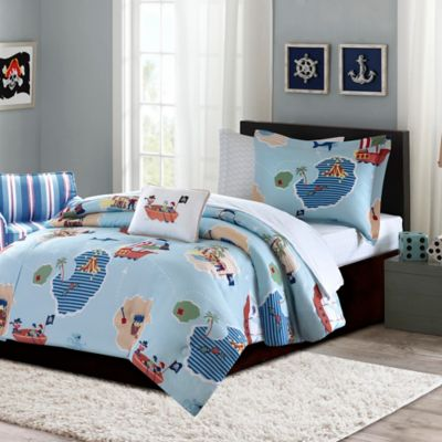 Mi Zone Kids Ahoy Matey 6-Piece Twin Comforter Set in Blue