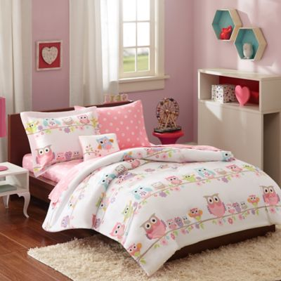 Mi Zone Wise Wendy 6-Piece Twin Comforter Set in Pink