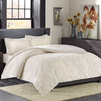 Madison Park Bismarck Ultra Plush Full/Queen Comforter Set in Grey