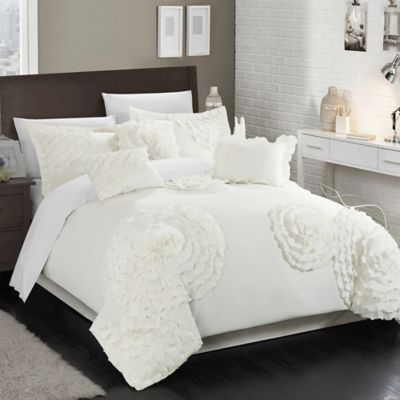 Chic Home Beverley 7-Piece King Comforter Set in Silver