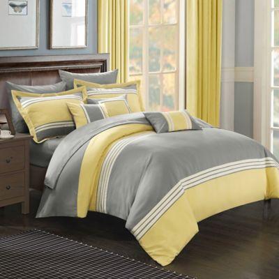 Chic Home Karsa 10-Piece King Comforter Set in Yellow