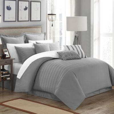 Chic Home Cranston 9-Piece Queen Comforter Set in White