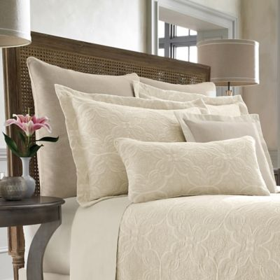 Wamsutta® Collection Salerno King Coverlet Pillow Sham in Linen