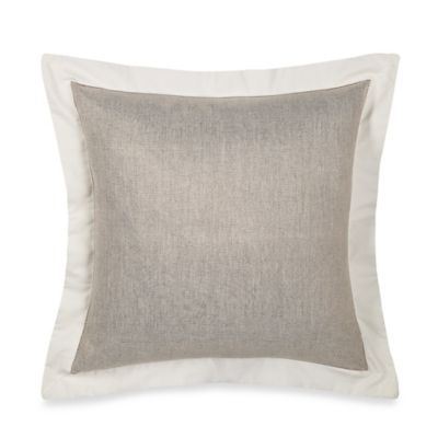 Wamsutta® Collection Luxury Italian-Made Salerno Square Throw Pillow in Linen/Ivory