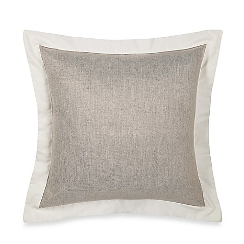 Luxury Decorative Pillow Collection : Wamsutta Collection Luxury Italian-Made Salerno Square Throw Pillow in Linen/Ivory - Bed Bath ...